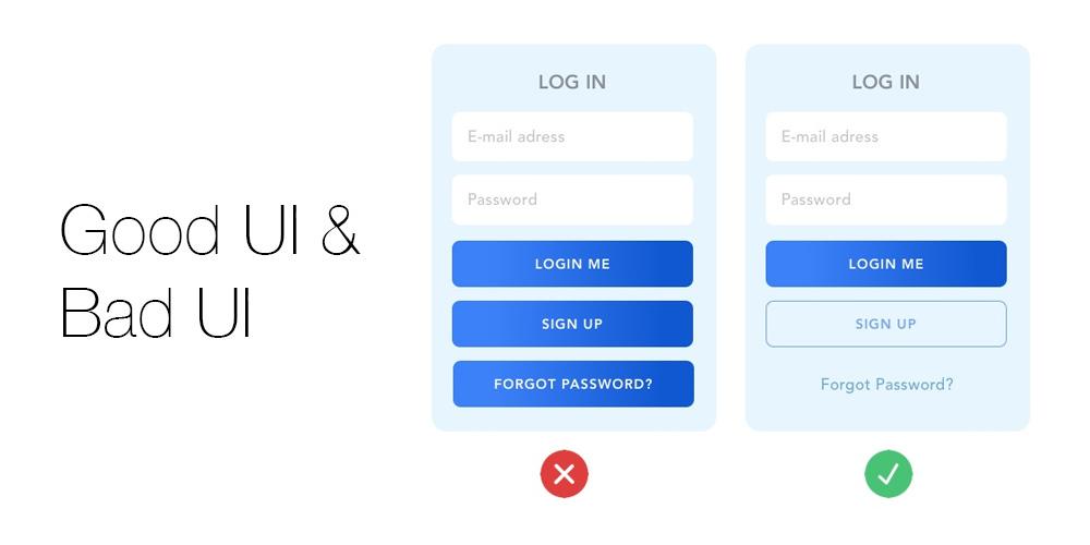 Bad UI vs Good UI